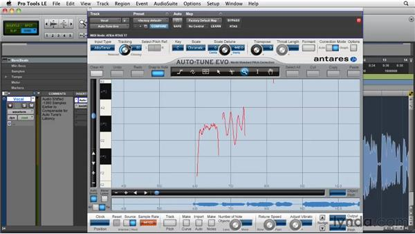 Tracking audio and creating a pitch curve: Pro Tools Projects: Pitch Correction with Antares Auto-Tune Evo