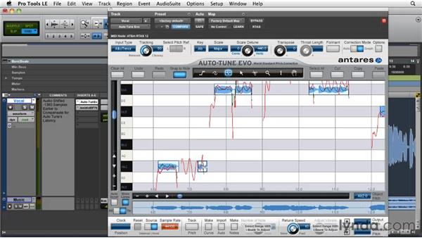 Using Note Object to correct pitch: Pro Tools Projects: Pitch Correction with Antares Auto-Tune Evo