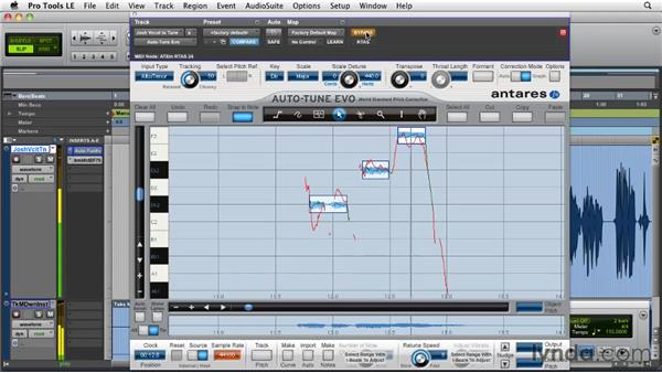 Pitch correction strategies: Achieving natural results: Pro Tools Projects: Pitch Correction with Antares Auto-Tune Evo