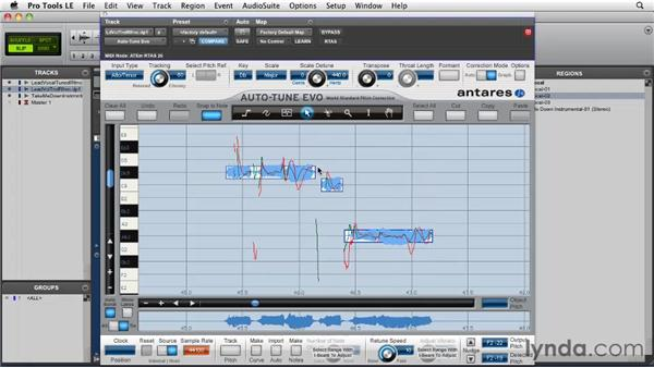 Pitch correction strategies: Building harmonies: Pro Tools Projects: Pitch Correction with Antares Auto-Tune Evo