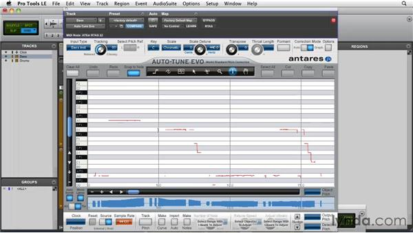 Pitch correction strategies: Importing vibrato: Pro Tools Projects: Pitch Correction with Antares Auto-Tune Evo