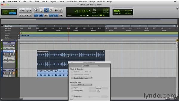 Beat Detective vs. Elastic Audio: Pro Tools Projects: Editing Drums Using Beat Detective and Sound Replacer