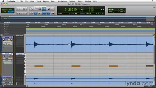 Converting drum transients to MIDI: Pro Tools Projects: Editing Drums Using Beat Detective and Sound Replacer