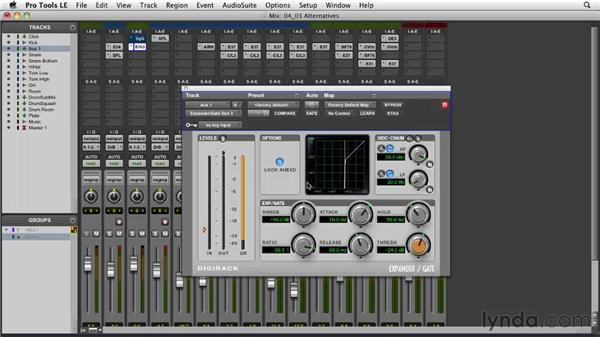 Sample replacement alternatives: Transient manipulation: Pro Tools Projects: Editing Drums Using Beat Detective and Sound Replacer