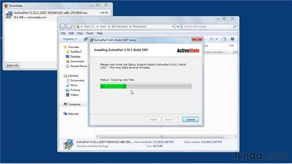 Installing ActiveState's ActivePerl on Windows: Perl 5 Essential Training (2010)