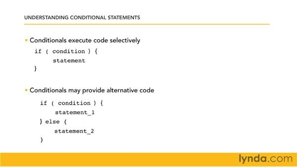 Understanding conditional statements: Perl 5 Essential Training (2010)