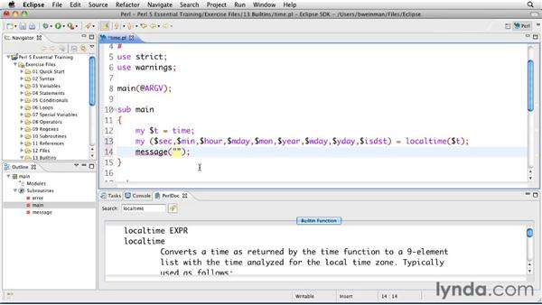 Retrieving and formatting time: Perl 5 Essential Training (2010)