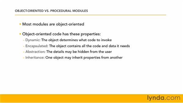 Understanding object-oriented and procedural modules: Perl 5 Essential Training (2010)