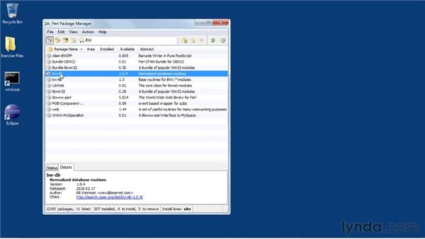 Installing modules from CPAN on Windows: Perl 5 Essential Training (2010)