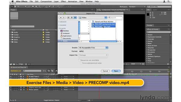 Bringing elements into After Effects: After Effects CS5 Essential Training