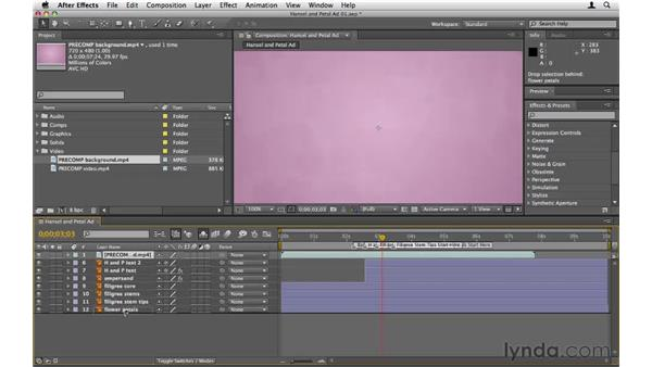Adding elements to the Timeline: After Effects CS5 Essential Training