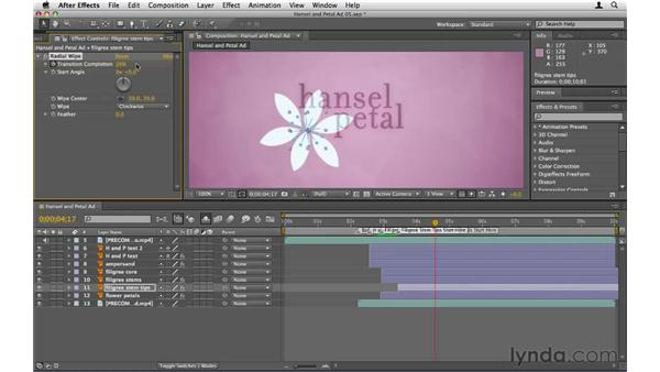 Creating animation without presets: After Effects CS5 Essential Training