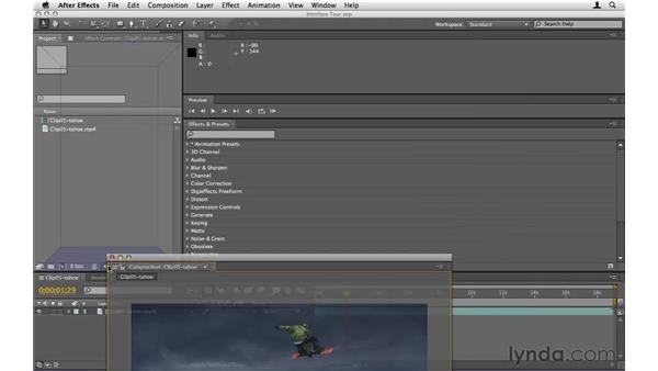Touring the interface: After Effects CS5 Essential Training