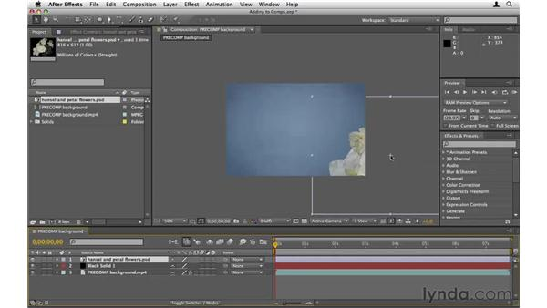 Tips for adding content to compositions: After Effects CS5 Essential Training