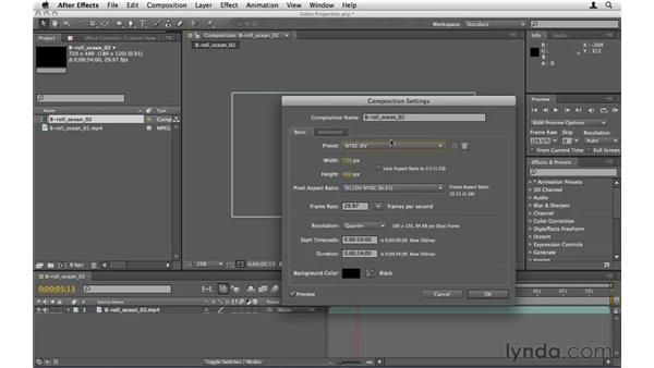 Understanding the properties of video: After Effects CS5 Essential Training