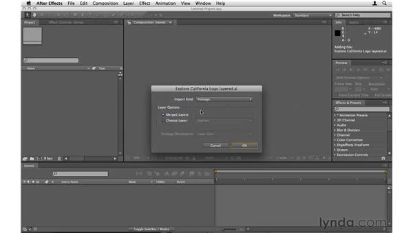Importing an Illustrator file: After Effects CS5 Essential Training