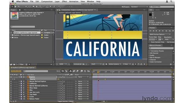 Animating opacity: After Effects CS5 Essential Training