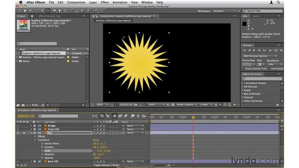 Understanding anchor points: After Effects CS5 Essential Training