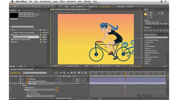 Using the Puppet tool: After Effects CS5 Essential Training