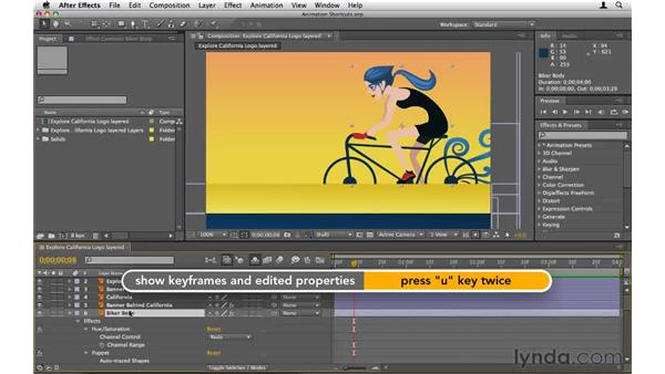 Animation shortcuts: After Effects CS5 Essential Training