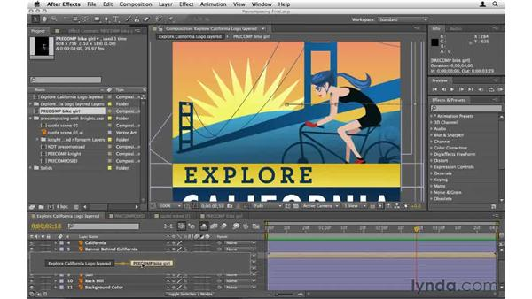 Navigating through compositions quickly: After Effects CS5 Essential Training