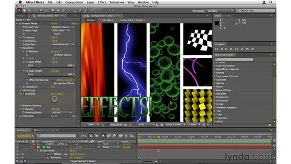 A showcase of effects: After Effects CS5 Essential Training