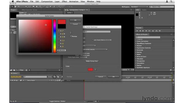 Creating a layer for effects: After Effects CS5 Essential Training