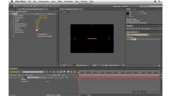 Applying effects: After Effects CS5 Essential Training