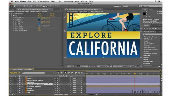 Animating effect properties: After Effects CS5 Essential Training