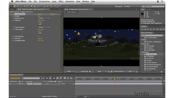 Using the Cycore effects: After Effects CS5 Essential Training