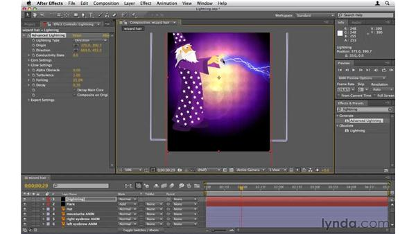 Creating lightning bolts: After Effects CS5 Essential Training