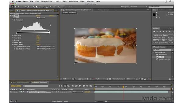 Brightening dark footage: After Effects CS5 Essential Training