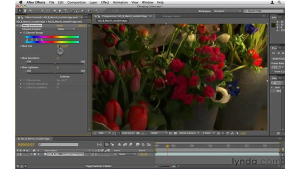 Changing colors in footage: After Effects CS5 Essential Training
