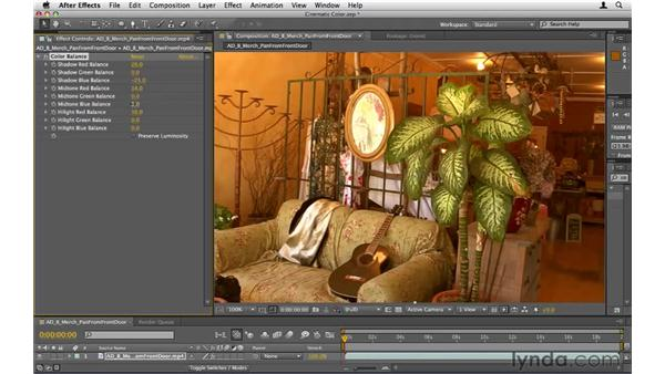 Creating cinematic color treatments: After Effects CS5 Essential Training