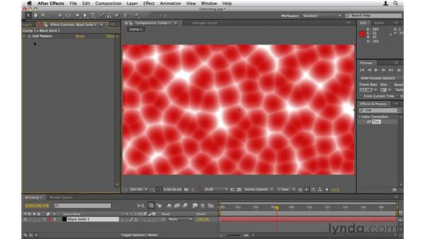 Colorizing black-and-white objects: After Effects CS5 Essential Training