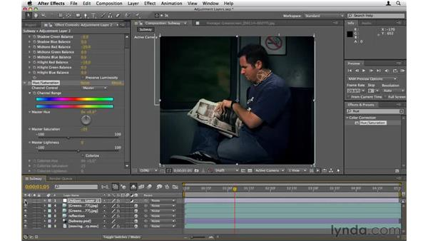 Using adjustment layers: After Effects CS5 Essential Training