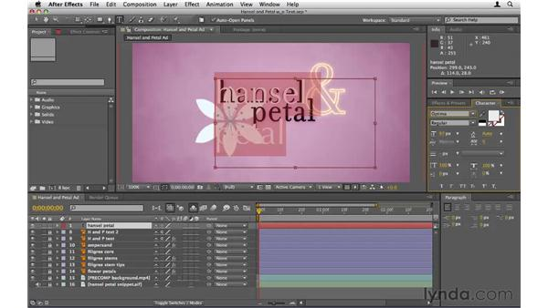 Creating and editing text: After Effects CS5 Essential Training