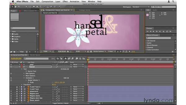 Animating text manually: After Effects CS5 Essential Training