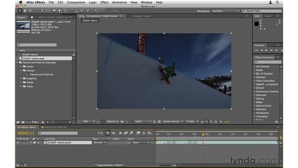 Creating markers: After Effects CS5 Essential Training