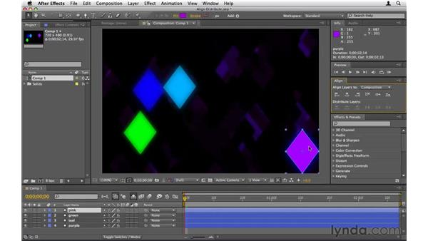 Aligning and distributing layers: After Effects CS5 Essential Training