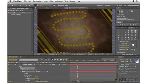 Using the paint tools: After Effects CS5 Essential Training
