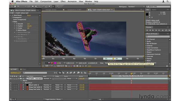 Using the Roto Brush tool: After Effects CS5 Essential Training