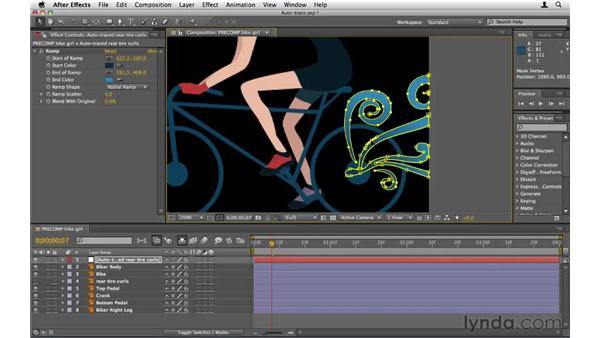 Creating masks with Auto-trace: After Effects CS5 Essential Training