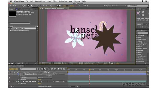 Making shape layers: After Effects CS5 Essential Training