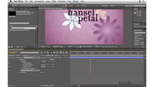 Modifying shape layers: After Effects CS5 Essential Training