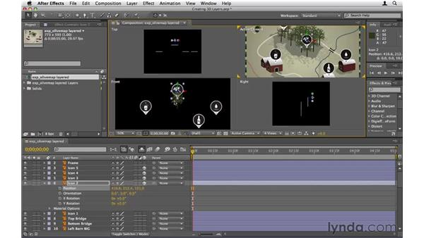 Turning 2D layers into 3D layers: After Effects CS5 Essential Training