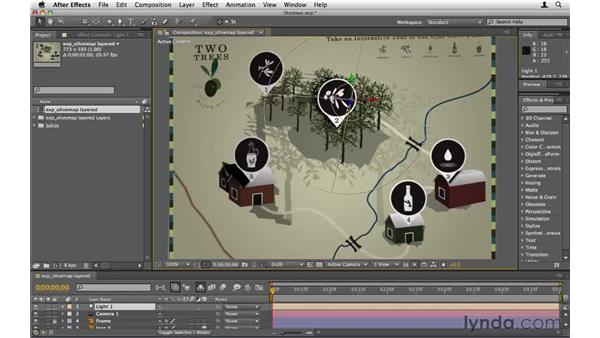 Creating shadows: After Effects CS5 Essential Training