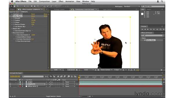 Refining the matte: After Effects CS5 Essential Training
