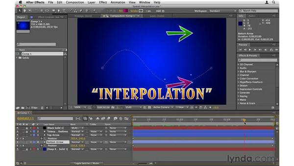 Understanding spatial interpolation: After Effects CS5 Essential Training