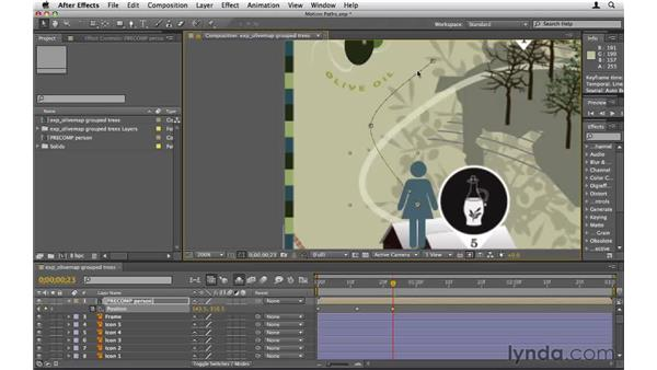 Creating and adjusting motion paths: After Effects CS5 Essential Training